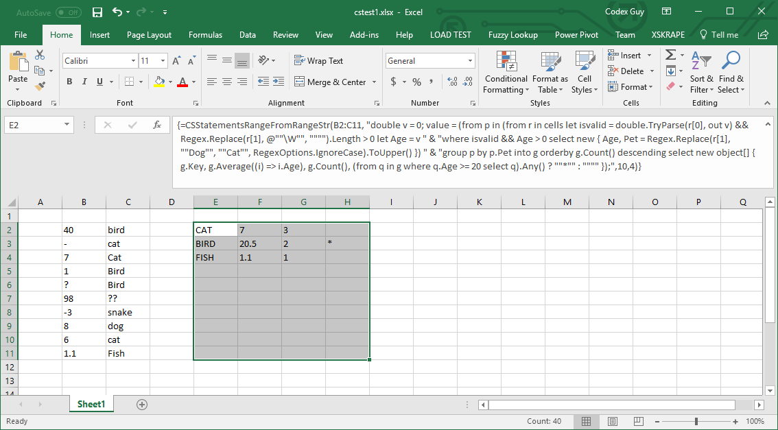 xSkrape for Excel - New Functions Bring C# to Excel