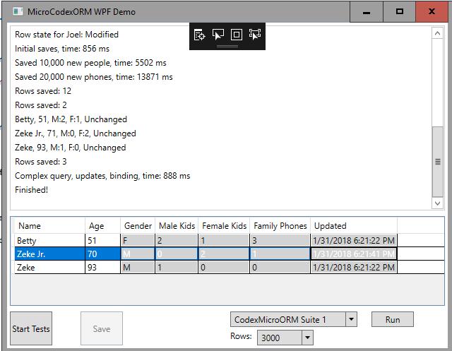 CodexMicroORM (Object Relational Mapper) - Visual Studio